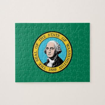 Puzzle with Flag of Washington State