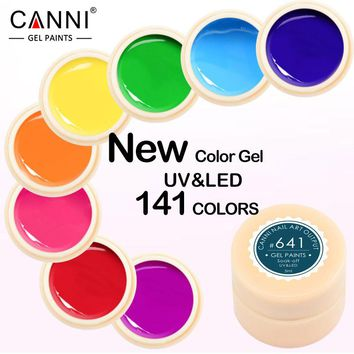 CANNI Gel Lacquer 5ML 141 Pure Colors UV Gel Manicure DIY Nail Art Tips Gel Polish Design 50618 Nail Painting Color Gel Varnish