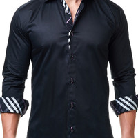 Luxor Black | Dress Shirt by MACEOO