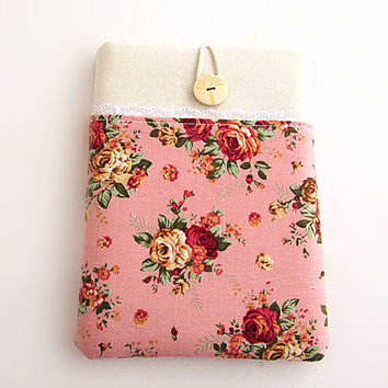 Rose Ipad Case-Ipad Cover-Ipad Sleeve- Pocket Ipad Case-Ipad 2, Ipad 3, Ipad Air- Ipad Retina.