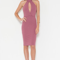 Verona High Neck Fitted Dress