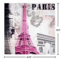 Wake Up Frankie - Eiffel in the Pink Canvas Art : Teen Bedding, Pink Bedding, Dorm Bedding, Teen Comforters