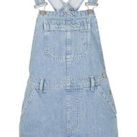 PETITE MOTO Bleach Short Overalls - Bleach