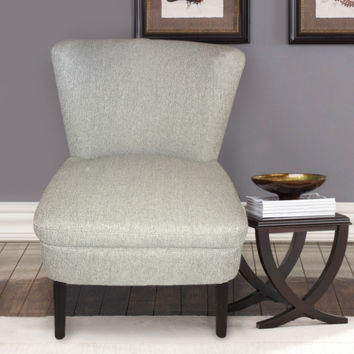Furnistars Cream / White Fabric Accent Chair