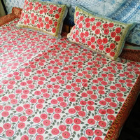 Neha's craft - Tapestries, Cushion Covers Home Decor, Fabric - Hand Printed Bedding Sets