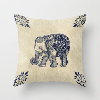 Simple Elephant Throw Pillow by Rskinner1122