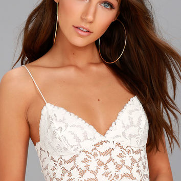 Free People Lacey White Lace Brami