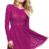 Lace Fit-and-Flare Dress - Victoria's Secret
