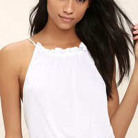 Nostalgia White Crop Top