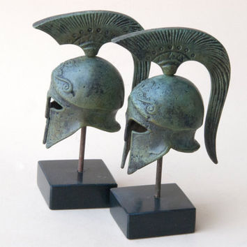 Bronze Metal Helmet, Ancient Greek Spartan War Helmet, Metal Art Sculpture, Museum Replica, Greek Art Decor, Ancient Greece