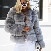 Elegance Faux Fur Coat