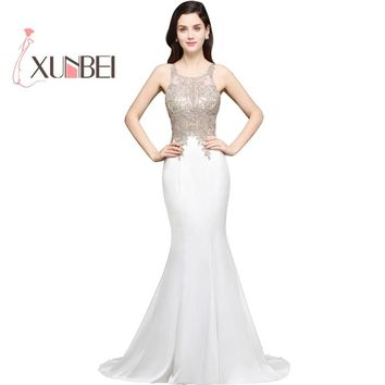 Vestido de novia Sexy Halter Mermaid Wedding Dresses 2018 Beaded Appliqued Cheap Wedding Gowns Robe de mariage