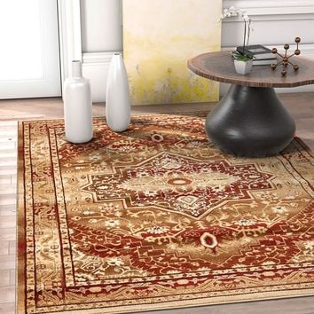 2949 Red Gold Persian Vintage Oriental Area Rugs