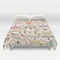 The owling Duvet Cover by Maria Jose Da Luz