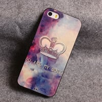 vintage Star Crown Relief Silicone Soft Iphone Cases For 5/5S