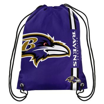 Baltimore Ravens NFL Drawstring BackPack - SackPack ~ NEW!