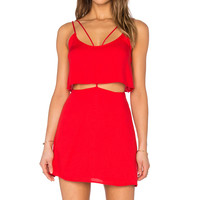 OH, BOY! Vestido Alcas Dress in Strawberry Red