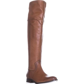 FRYE Melissa Western Over The Knee Boots, Cognac, 7.5 US
