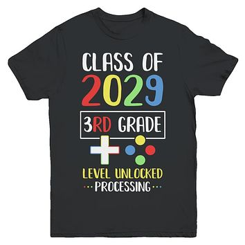 Class Of 2029 3rd Grade Level Unlock Gaming Back Go School Youth