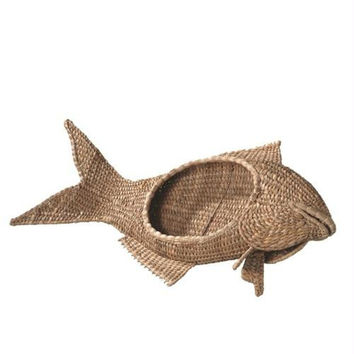 Fish Bowl Table Top Decoration - Woven From Water Hyacinth