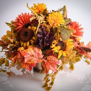 Fall Floral Arrangement - Mums and Sunflowers - FA750