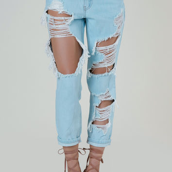 Time Out Distressed Jeans