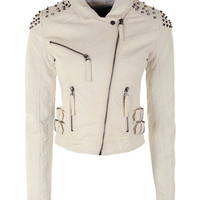 sirenlondon — White Ice Biker Jacket
