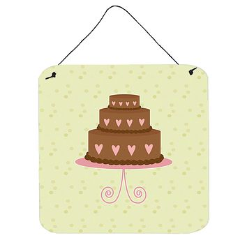 Heart Chocolate Cake on Green Wall or Door Hanging Prints BB7303DS66