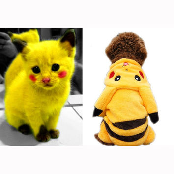 Pikachu Pokemon Costume for Cats