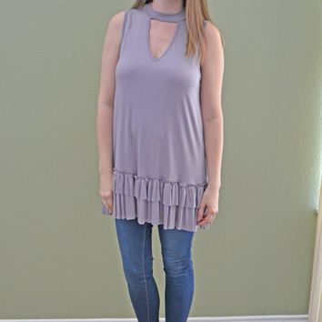 Extra, Extra Lilac Ruffle Top