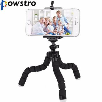 DCCKJY1 POWSTRO K Mini Portable Flexible Sponge Octopus Tripod Stand Mount With Holder For Phone Gopro Camera Tripode Drop Shipping