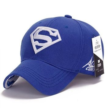 NEW Brand SUPERMAN Polo Snapback Mens Golf Baseball Caps Women Fitted Adjustable Hat G