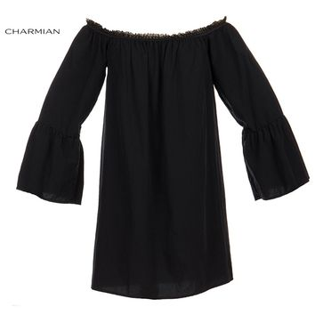 Charmian Sexy Off Shoulder Top Shirt Fashion Autumn Loose Lolita Top Victorian Vintage Gothic Blouse Shirt Women Casual Clothing