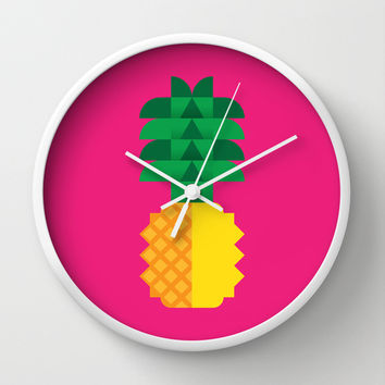 Fruit: Pineapple Wall Clock by Christopher Dina