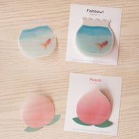 Fishbowl & Peach Sticky Note Set