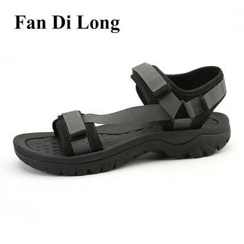 2017 Men Beach Sandals Roman Man Summer Shoes Strap Up Slippers Leather Black,free shipping