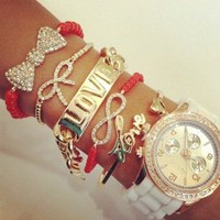 Belle La Vie Boutique — Coral & White Watch Set