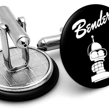 Bender Futurama Black Cufflinks