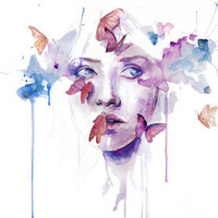 about a new place Stretched Canvas by Agnes-cecile | Society6