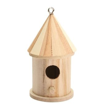 Hanging Bird Nesting Boxes with Loop for Home Garden Yard Decoration