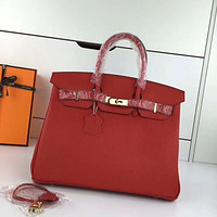 HERMES WOMEN'S LEATHER BIRKIN HANDBAG INCLINED SHOULDER BAG
