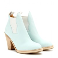 acne studios - star leather ankle boots