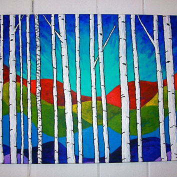 """Vision Quest XIII (Original Acrylic Painting) 16"""" x 20"""" by Mike Kraus"""