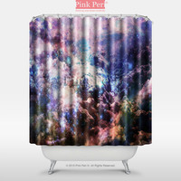 Colorful Galaxy Cloud Shower Curtain Free shipping Home & Living 027