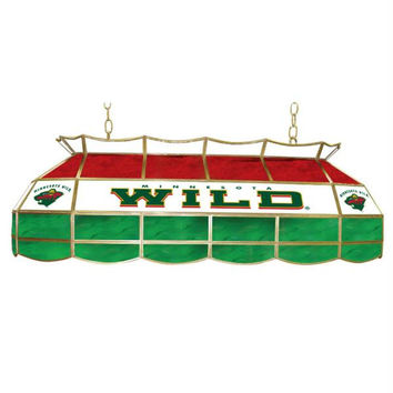 NHL Minnesota Wild Stained Glass 40 inch Lighting Fixture
