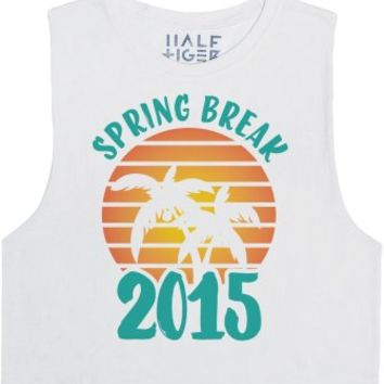 Spring Break 2015-Unisex White Tank
