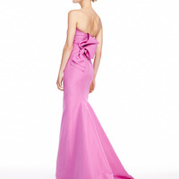 Carolina Herrera Silk Faille Strapless Gown, Violet