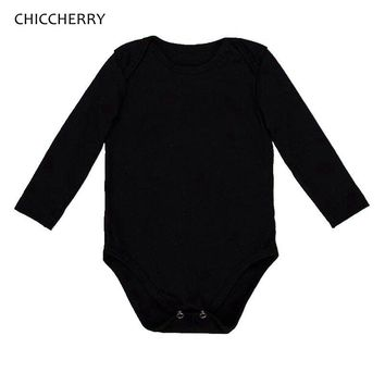 Plain Black Long Sleeve Vests for Babies Bodysuits Baby Girl Clothes Body Macacao Bebe Kids Overalls Jumpsuit Infant Clothing