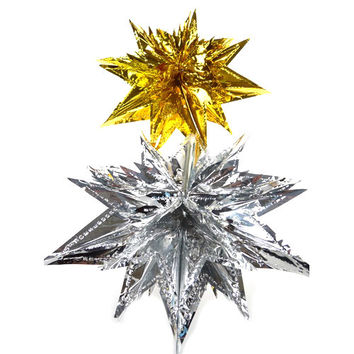 Metallic Foil Hanging Decor, 13-inch, Moravian Star