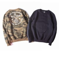 Round-neck Stussy Pullover Hoodies Couple Sweatshirt [9370034951]